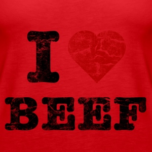 I Love Beef vintage dark Topper - Premium singlet for kvinner