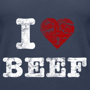 I Love BEEF vintage light Toppe - Dame Premium tanktop