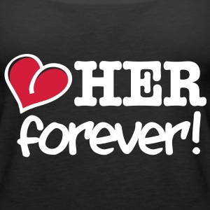 love her forever Tops - Women's Premium Tank Top