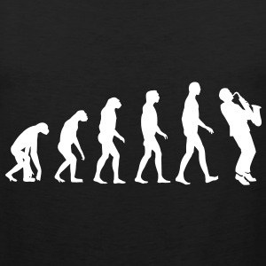 saxophone evolution T-Shirts - Men's Premium Tank Top