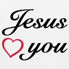 : Jesus loves you. God is love. T-Shirts