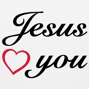 : Jesus loves you. God is love. T-Shirts - Men's Premium Tank Top