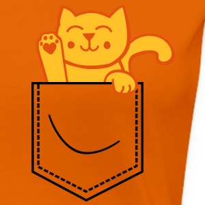 kitty in pocket T-Shirts - Frauen Premium T-Shirt