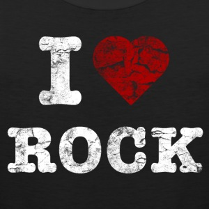 I Love Rock vintage light T-shirts - Herre Premium tanktop