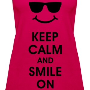 Keep Calm and Smile. Sonreír ayuda. Smiley Smily Tops - Camiseta de tirantes premium mujer