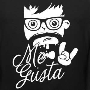 Like a cool geek me gusta story meme boss bro face T-Shirts - Men's Premium Tank Top