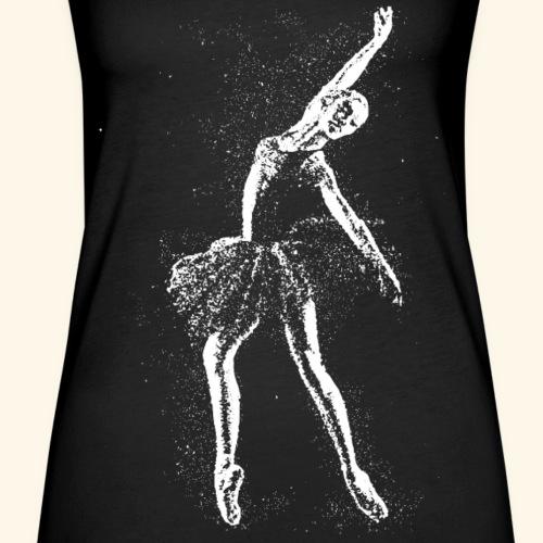 Ballerina dances ballet in the stars