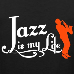 jazz is my life T-skjorter - Premium singlet for menn