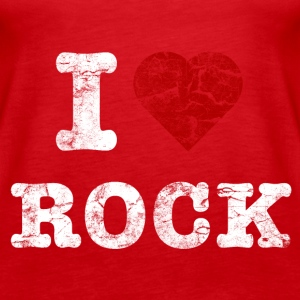 I Love Rock vintage light Toppar - Premiumtanktopp dam