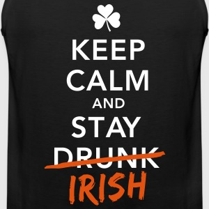 love keep calm drunk celtic irish st patricks day T-Shirts - Männer Premium Tank Top