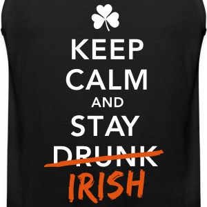 love keep calm drunk celtic irish st patricks day T-Shirts - Men's Premium Tank Top