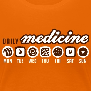 Orange Daily medicine of chocolate T-Shirts - Women's Premium T-Shirt