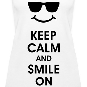 Keep Calm and Smile. Lächeln hilft. Smiley Smilie Tops - Frauen Premium Tank Top