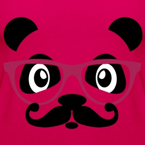 nerd panda with moustache and glasses Toppar - Premiumtanktopp dam
