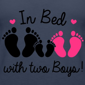 in bed with two boys Tops - Women's Premium Tank Top