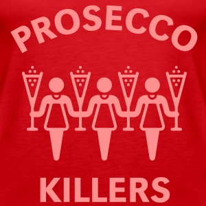 Prosecco Killers, Frauen Schulterfreies Tank Top - Frauen Premium Tank Top