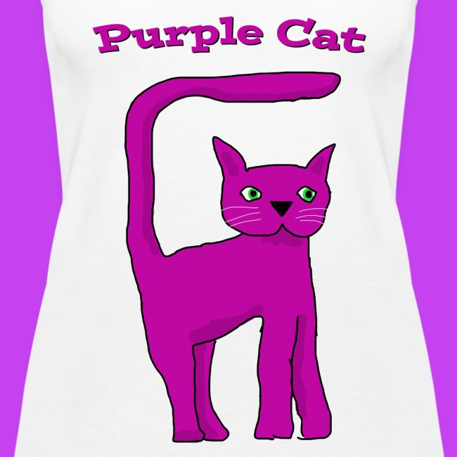 Women's Purple Cat vest