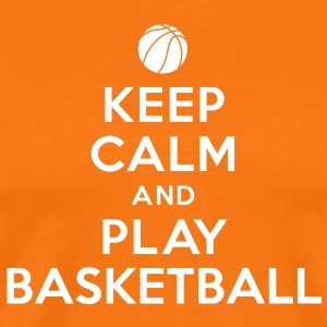 Keep calm and play Basketball Tee shirts - T-shirt Premium Homme
