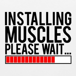 Installing muscles please wait | Mens sleeveless - Men's Premium Tank Top