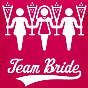 Team Bride, Women's Shoulder-Free Tank Top - Women's Premium Tank Top