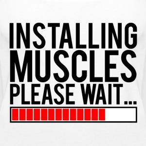Installing muscles please wait | Womens tank - Women's Premium Tank Top