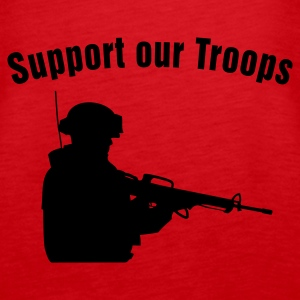Support our Troops / soldier Tops - Camiseta de tirantes premium mujer