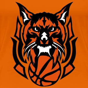 basketball lynx logo sauvage animal club Tee shirts - T-shirt Premium Femme
