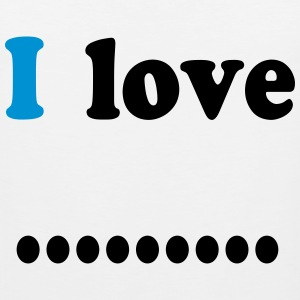 I love dot T-Shirts - Men's Premium Tank Top