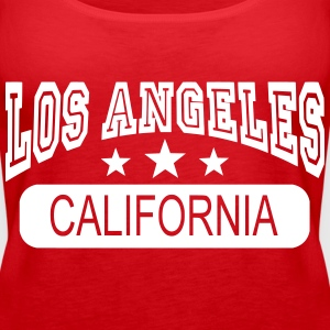 los angeles california Topper - Premium singlet for kvinner