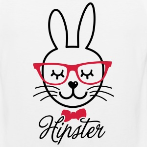 Like a hipsta hipster easter bunny rabbit face Tee shirts - Débardeur Premium Homme