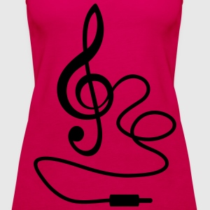 Instant Music * Treble Clef cable RCA plugs Tops - Women's Premium Tank Top