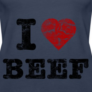 i_love_beef_vintage Tops - Frauen Premium Tank Top