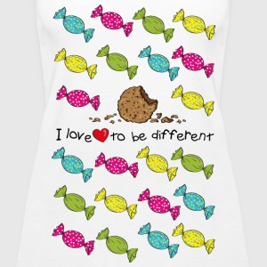 I love to be different- cookie Tops - Frauen Premium Tank Top