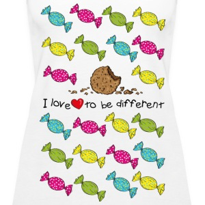 I love to be different- cookie Topy - Tank top damski Premium