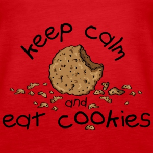 Keep calm and eat cookies Toppar - Premiumtanktopp dam
