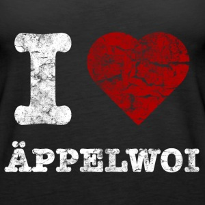 i_love_aeppelwoi_vintage_hell Tops - Frauen Premium Tank Top