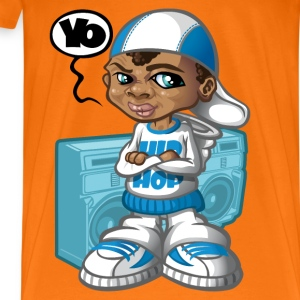 Hip-hop kid and boom-box - Men's Premium T-Shirt