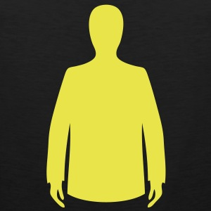 human costume personnage silhouette Tee shirts - Débardeur Premium Homme