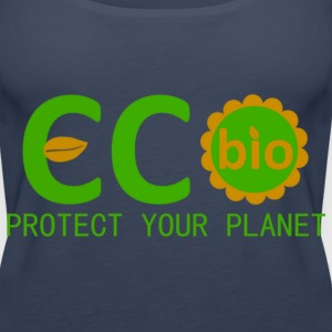 eco bio protect your planet Tops - Women's Premium Tank Top