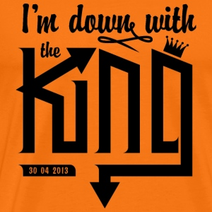 I'm down with the King v1 - Mannen Premium T-shirt
