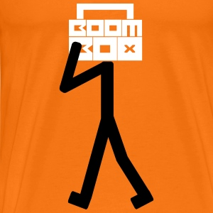 Boom Box Stick Man T-skjorter - Premium T-skjorte for menn