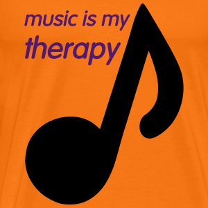 Music is my Therapy T-shirts - Mannen Premium T-shirt