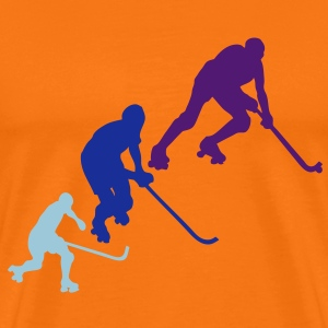 rink hockey silhouette player6 animation Tee shirts - T-shirt Premium Homme