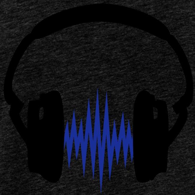Kopfhörer Muskelshirt weiß