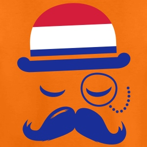 Nederland Holland Koninginnedag oranje moustache Shirts - Teenager Premium T-shirt