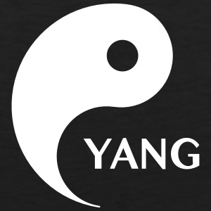 Yang looking for Yin, Part 2, tao, dualities T-Shirts - Men's Premium Tank Top