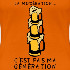 moderation generation alcool biere verre Tee shirts - T-shirt Premium Femme