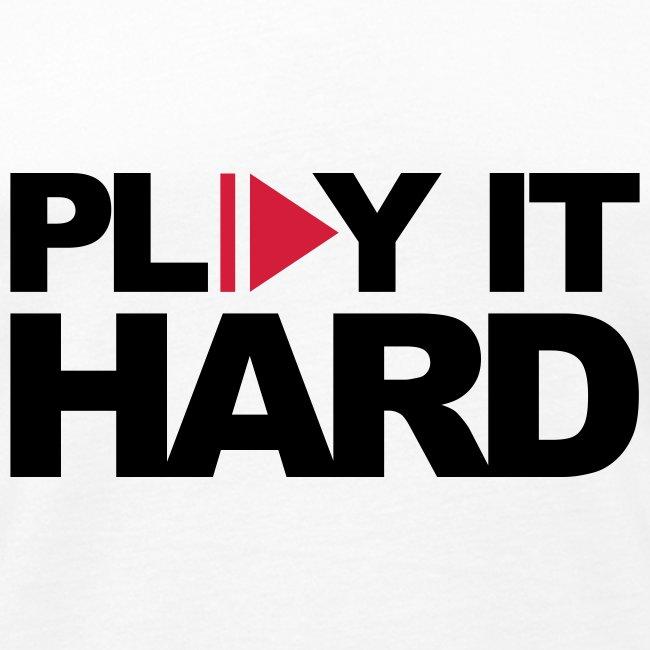 Play it hard Muskelshirt weiß/schwarz