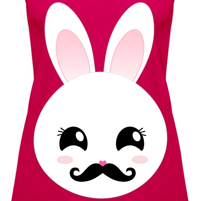 Moustache Bunny Hase Rosa Top