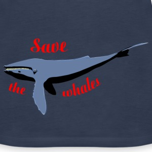 save the whales Tops - Women's Premium Tank Top